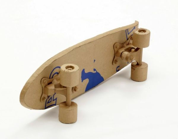 Skateboard Effektvolles Design Aus Pappe Effektvolle Ideen Karton