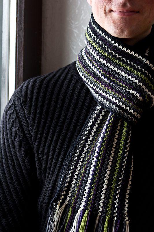 Ravelry: Rikora\'s Men\'s Crochet Scarf Ver.2   Crochet - Bodywear ...