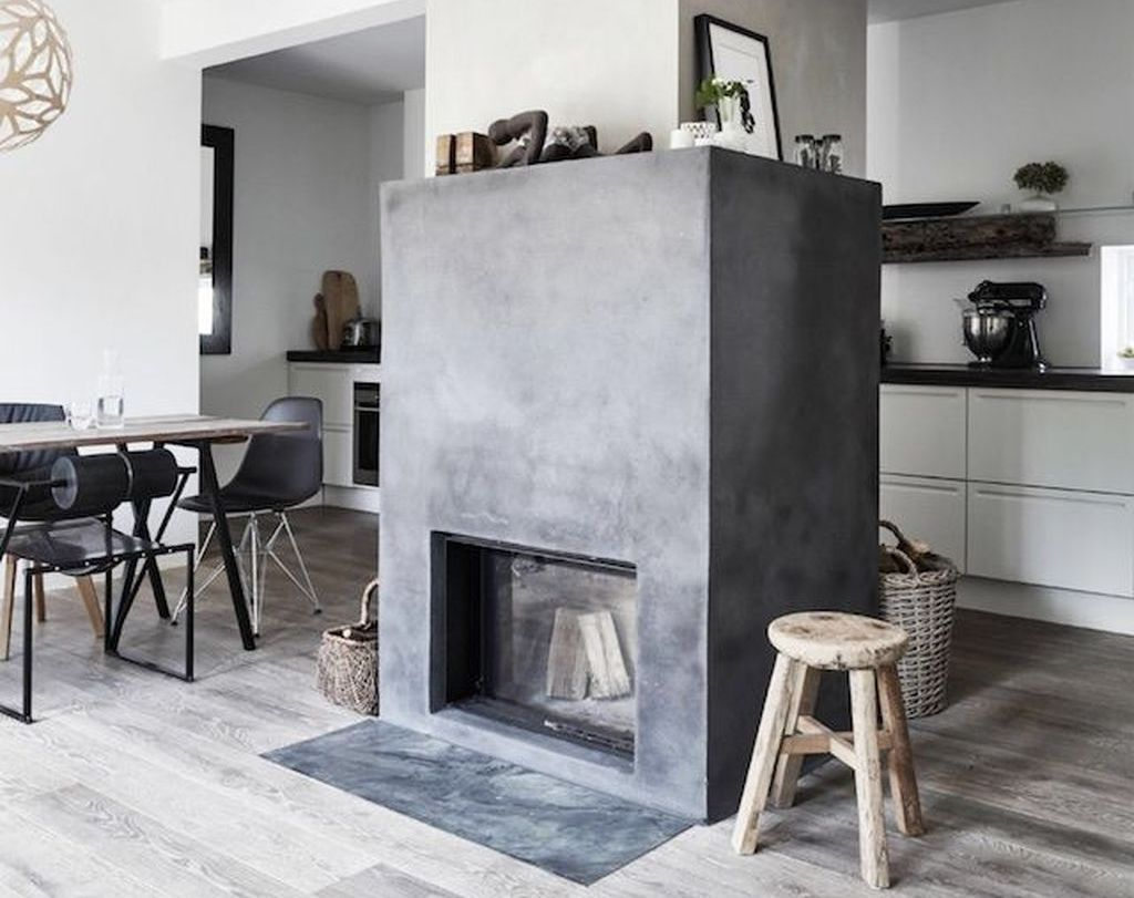 Awesome Fantastic Scandinavian Fireplace Ideas More at