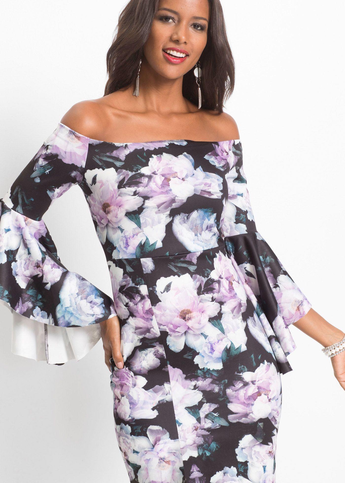 d6731b5cf4b990 Kleid mit floralem Print