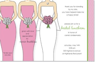 bridesmaid luncheon invitation wording lipstick shades bridal