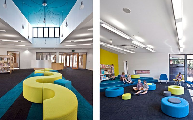 Modern Classroom With Students : Unique school furniture design library