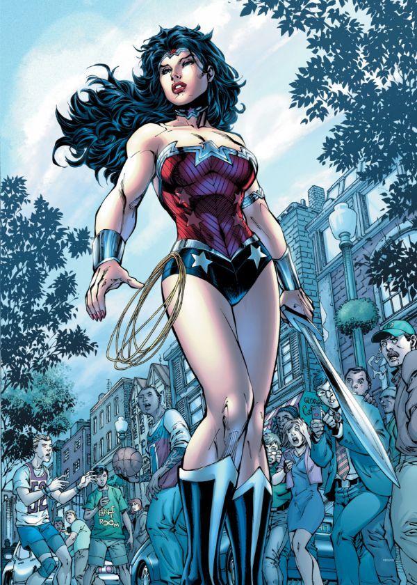 "Official DC Comics Jim Lee Collection Wonder Woman #Displate artwork by artist ""DC Comics"".… | Displate thumbnail"