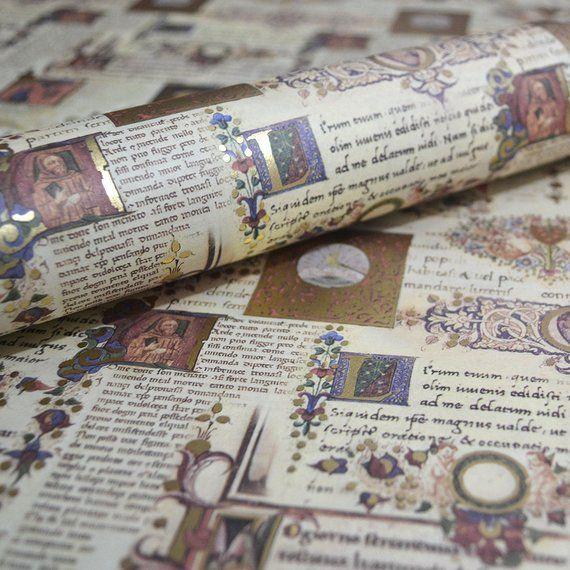 Italian Decorative Paper - Illuminated Manuscript