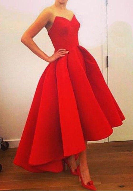 Red Plain Draped Sleeveless Loose Midi Dress