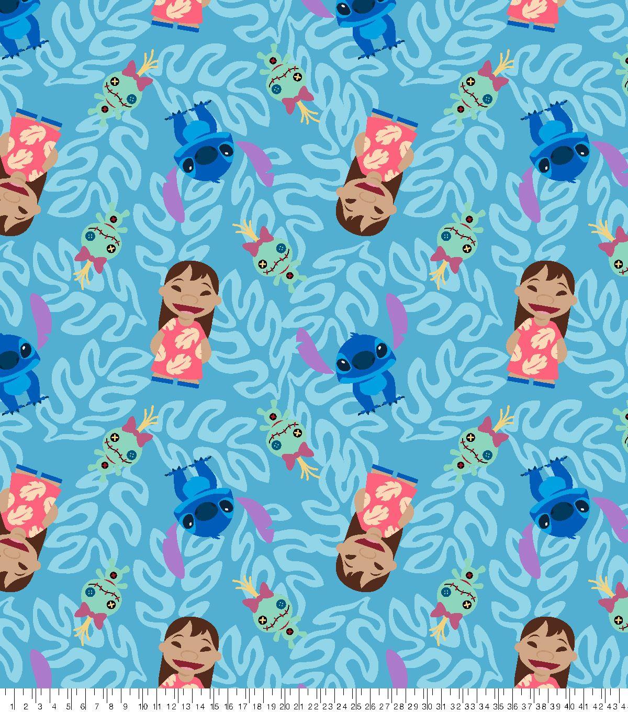 Disney Lilo Stitch Fleece Fabric Hawaiian Leaves Joann Disney Fabric Lilo And Stitch Disney Lilo