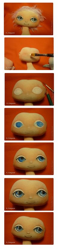 steps painting doll face