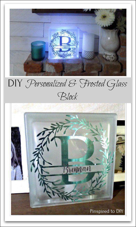 DIY Glass Block Tutorial | Cricut Project
