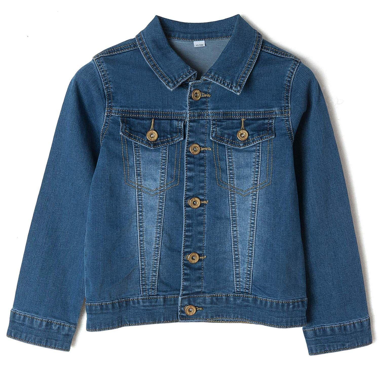 Girls Denim Trucker Jacket Long Sleeve Classic Basic Jean Jacket Coats Age 2 15 Years Denim Blue Washed Ct18hwdl8qt Girls Denim Sleeveless Jean Jackets Trucker Jacket [ 1500 x 1500 Pixel ]