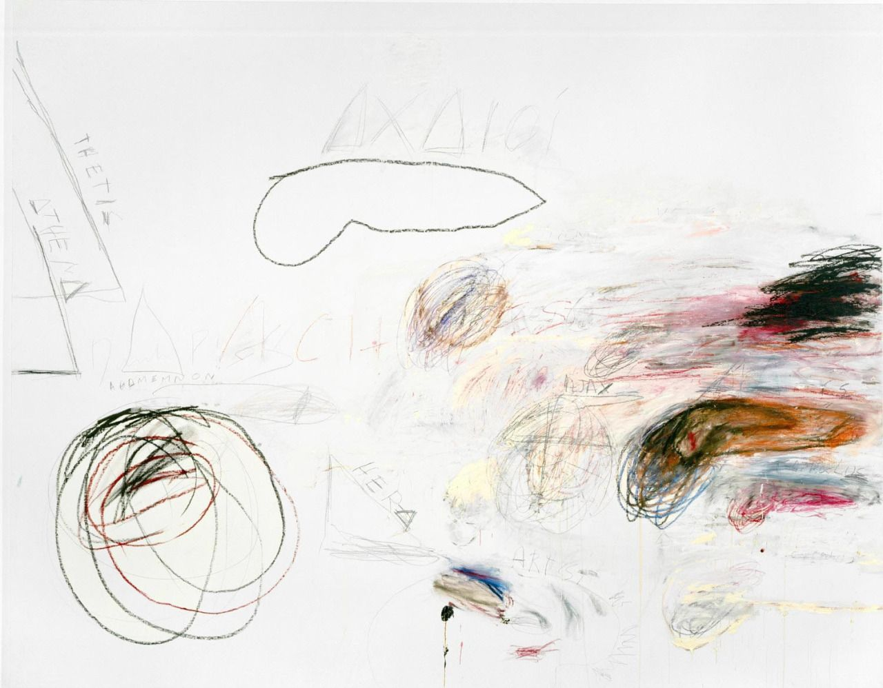 Cy Twombly Fifty Days at Iliam: Achaeans In Battle, 1978