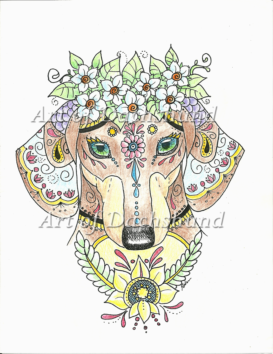 Art of Dachshund Coloring Book #doxie #teckel #adult coloring book ...