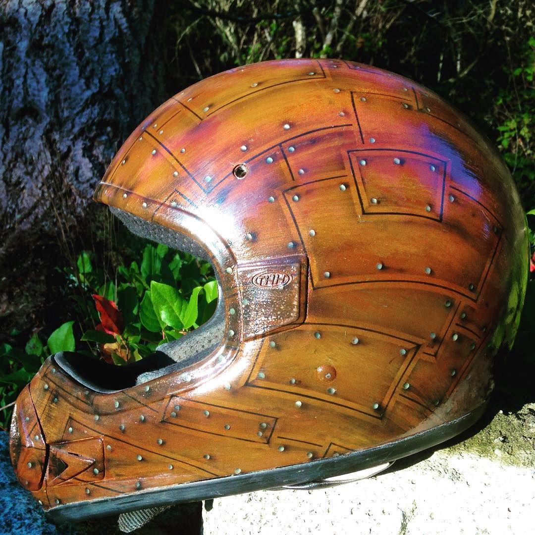 Rust Motorcycle Helmet Airbrush And Graffiti Artist