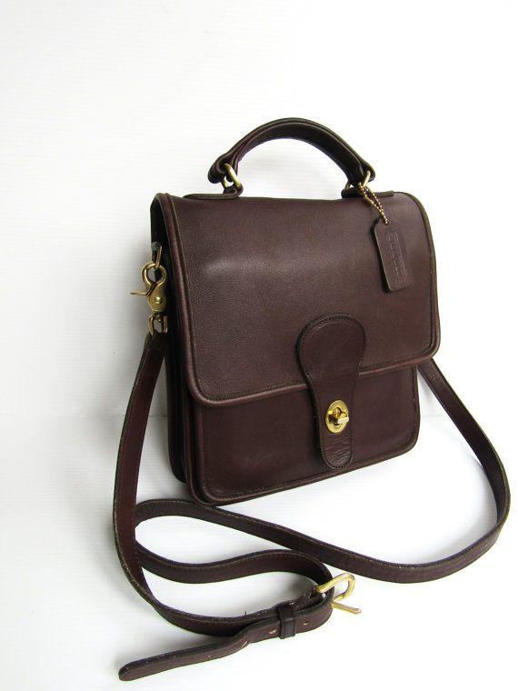 Vintage COACH Station Bag Messenger Oxblood by FeelsFree Coach Leather Bag 3c4c64a1c741b