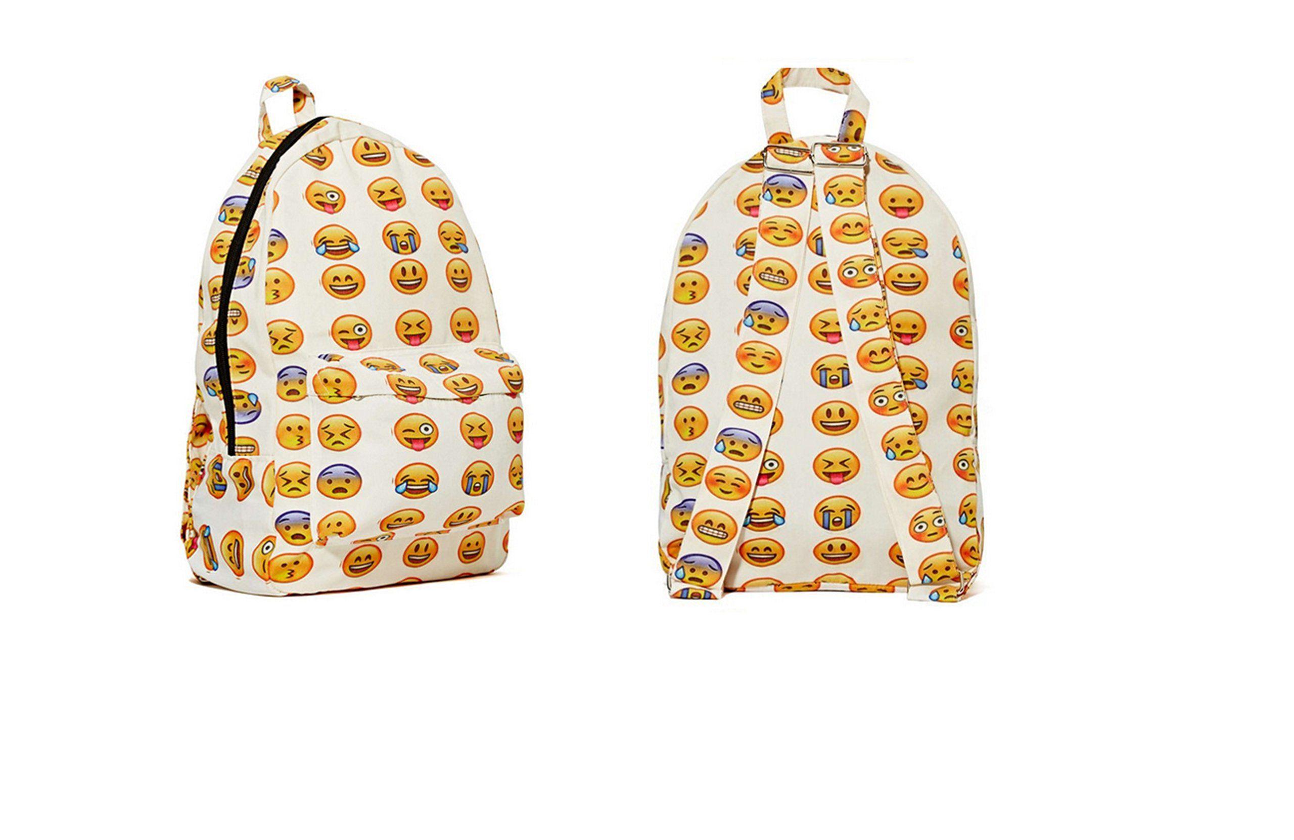 DESIGN super tendance trendy amis! sac de voyage sac à dos sac à dos imprimé smiley + sac mode fashion jutebeutel hipster bagpack emoji-unique!