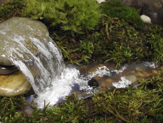 Add A Miniature Waterfall Pond Or River To Your Fairy Garden Fairy Garden Miniature Fairy Gardens Garden Terrarium