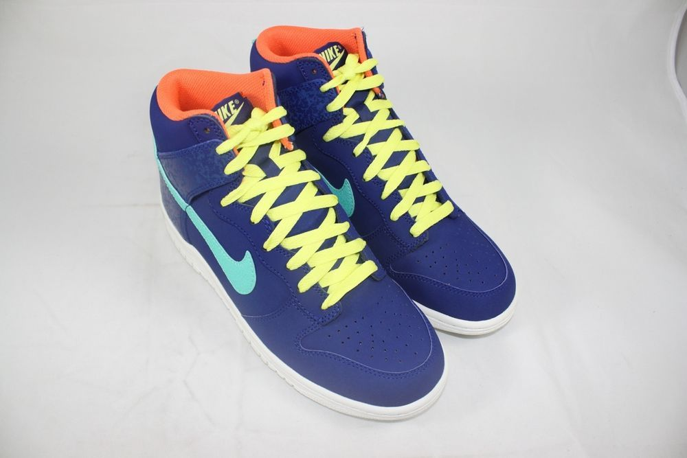 the best attitude 8db5c 54ea4 BRAND NEW NIKE DUNK HIGH SZ 8 ROYAL BLUE CRYSTAL MINT YELLOW 317982 413   Nike  AthleticSneakers
