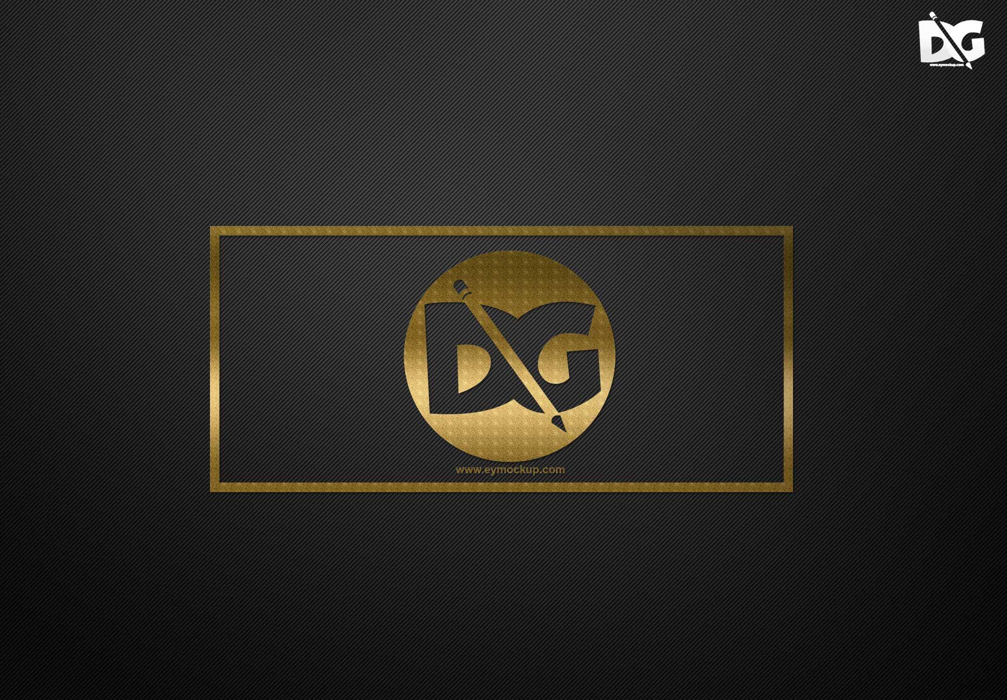 Free Clean Gold Logo Mockups Psd Logo Mockup Free Logo Mockup Psd Mockup Free Psd