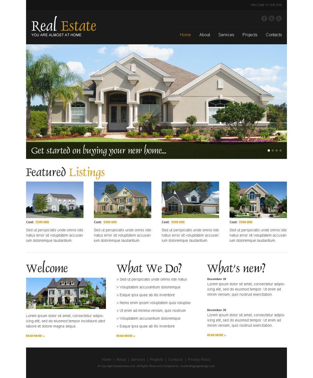 Pin by Mrinal (landing page designer) on real estate landing page