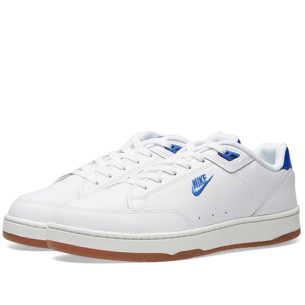 half off 9c598 63c02 Nike Grandstand II Premium White, Royal  Medium Brown 1