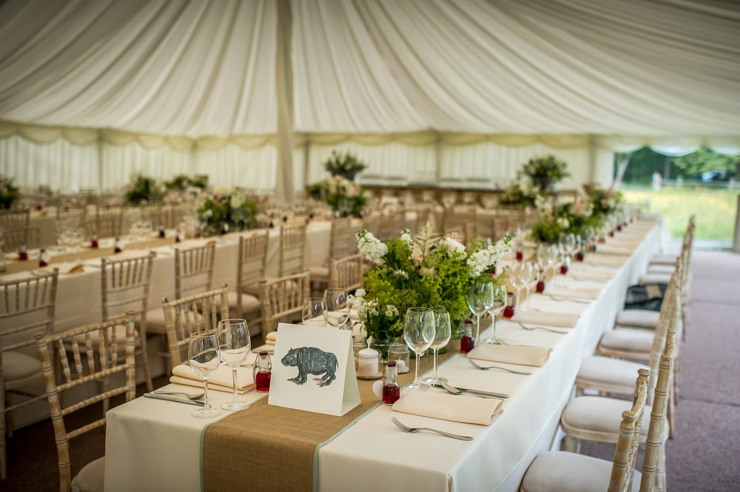 Wedding marquee decoration ideas  Pure elegance and simplicity in our traditional pole marquee