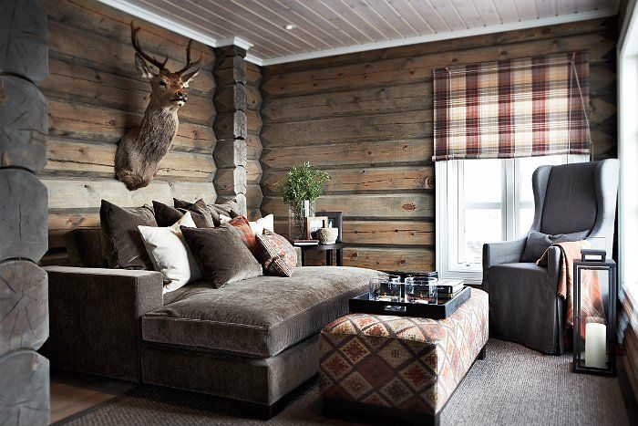 Chic Ski Lodge Cabin Living Home Decor Lodge Style