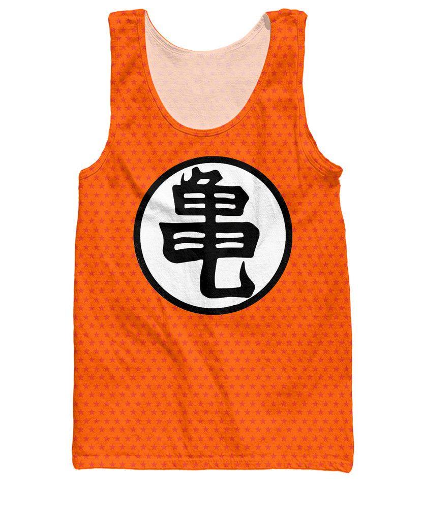 Dragon Ball Z Orange Kame Symbol Goku Master Roshi Tank Top Saiyan