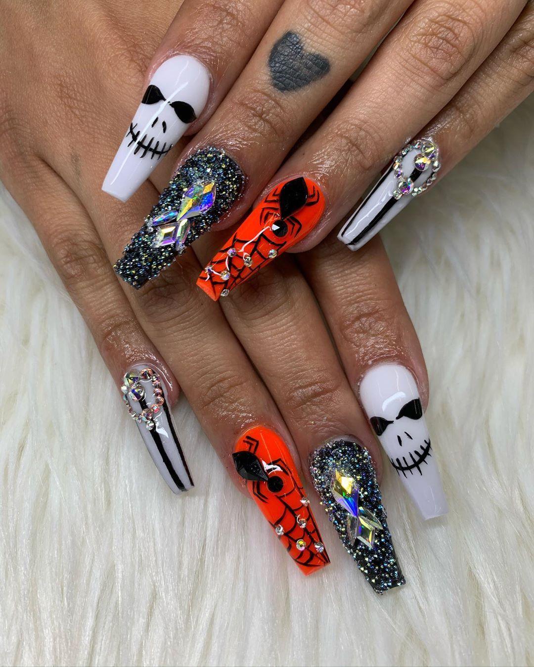 Best Halloween Nails Art Designs 2019 Halloween Acrylic Nails Halloween Nail Designs Halloween Nail Art