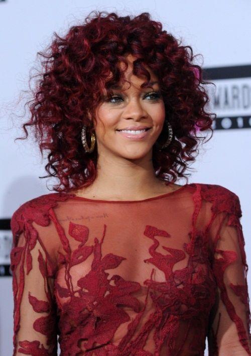 Rihanna Curly Red Hair Su Style Hair Hair Curly Hair Styles