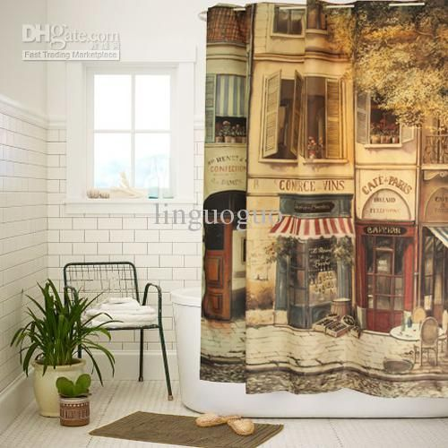 Endearing Vintage Looking Shower Curtains and Shower Curtains ...