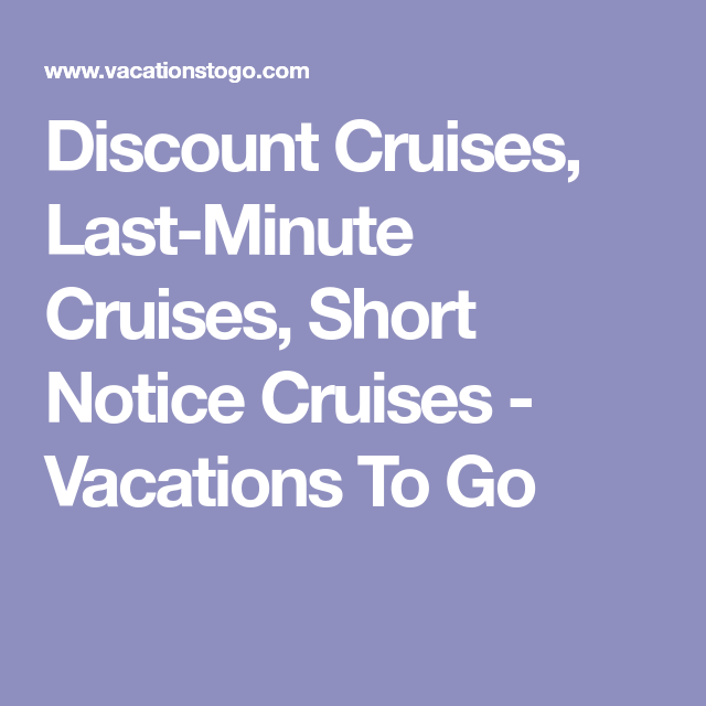 Discount Cruises LastMinute Cruises Short Notice Cruises - Lastminute cruises