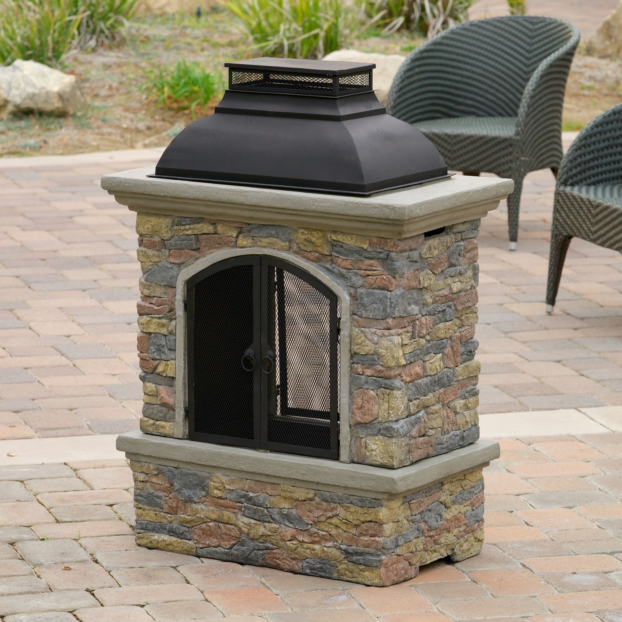 Marvelous Fresno Cement Wood Burning Outdoor Fireplace