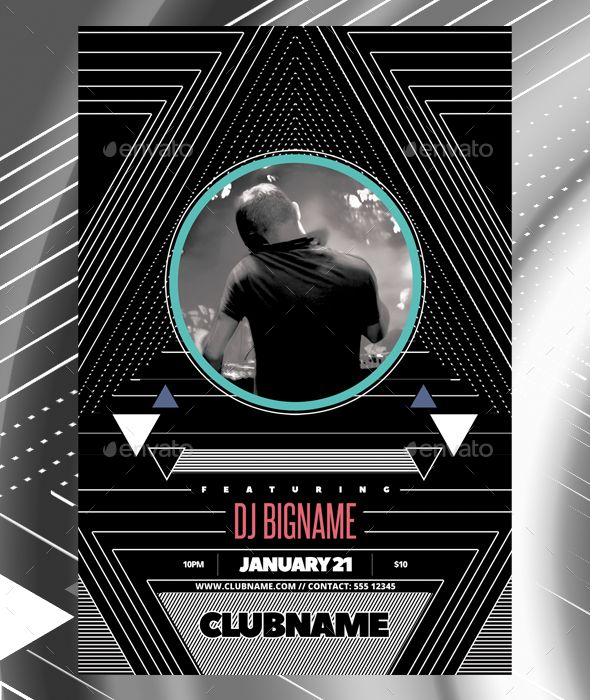 Dj Club Flyer Template  Flyer Template Dj And Template