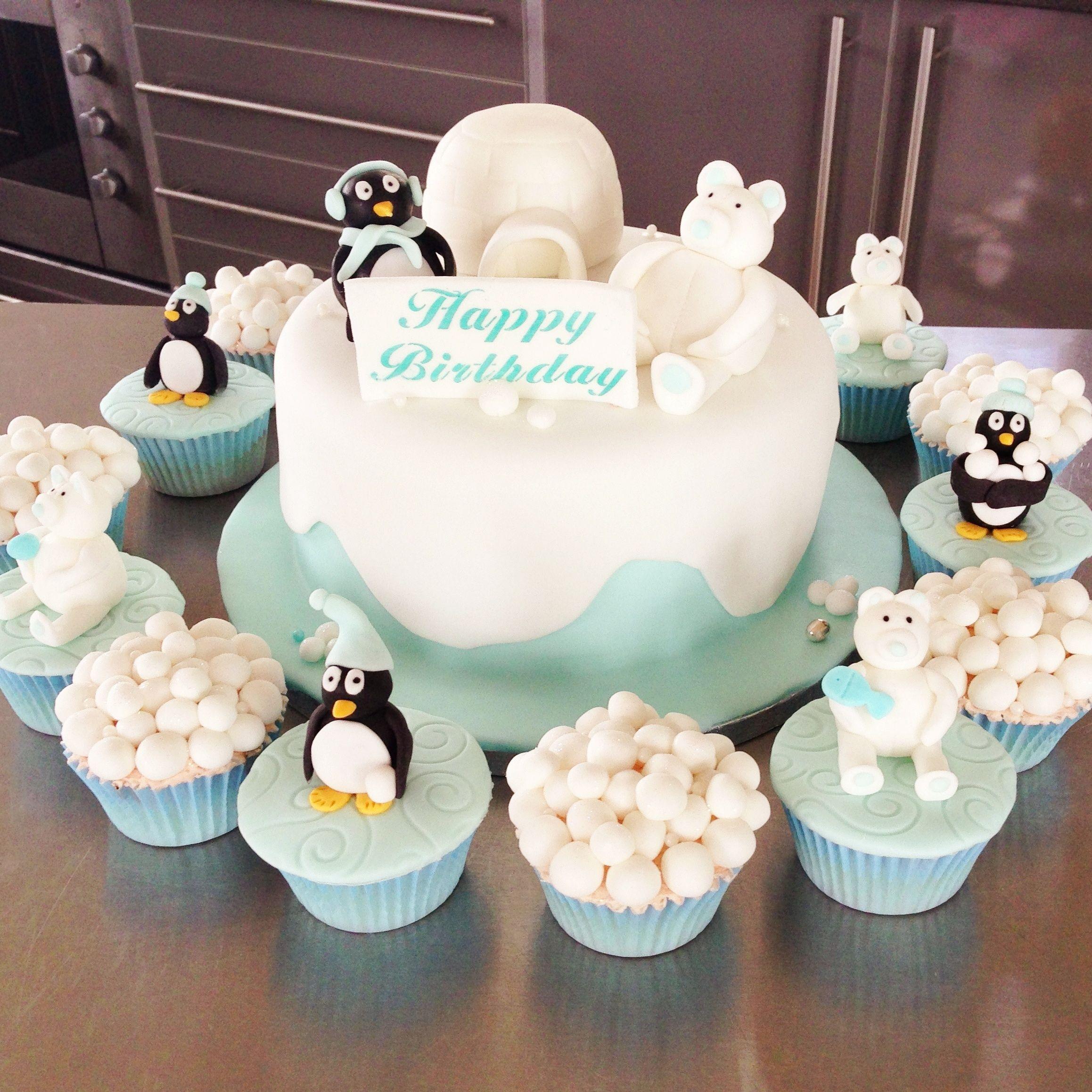 Amazing Penguin Birthday Cake Birthday Cake Penguin Birthday Fish Cake Funny Birthday Cards Online Alyptdamsfinfo