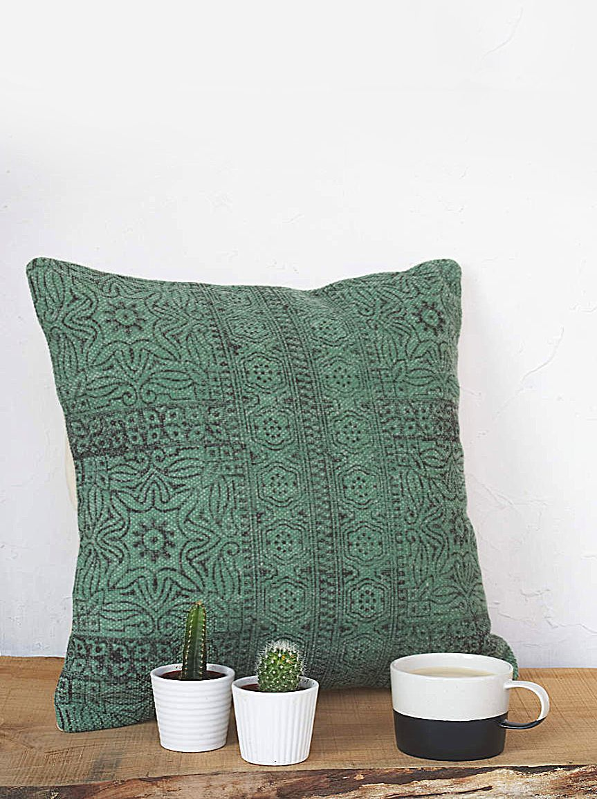 Hazi emerald green scatter cushion in colours green green