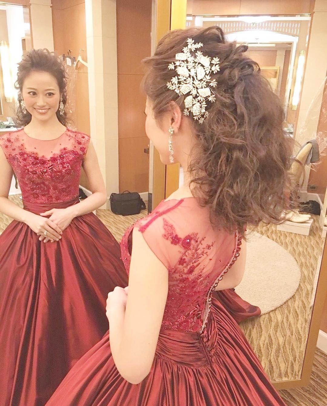 ウェディングドレスにぴったりの髪型30選 ゆるふわ でおしゃれ花嫁に Part 2 ウエディングドレス ヘアスタイル ウェディングドレス 髪型 アップ 花嫁 ヘアスタイル