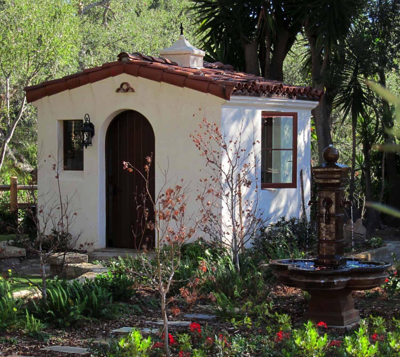 30 Wonderfully Inspiring She Shed Ideas To Adorn Your Backyard Spanish Style Homes Spanish Style Backyard Shed