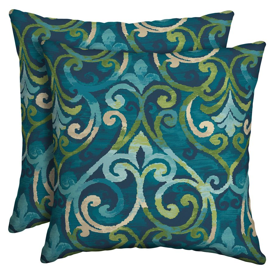 Garden Treasures Salito Marine 2 Pack Salito Marine And Paisley Square Throw  Pillow Outdoor Decorative Pillow Tg2m554b