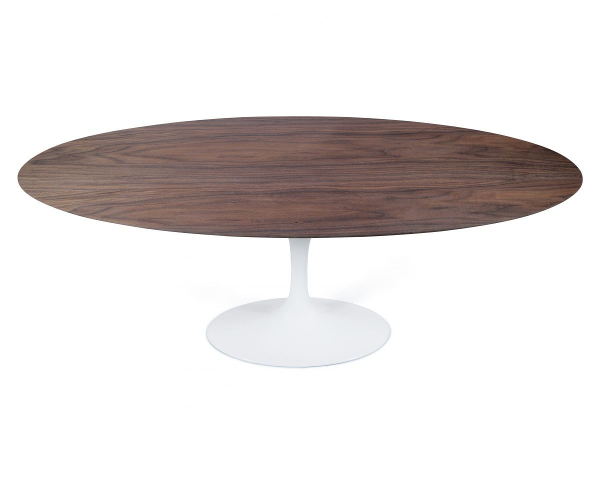 tulip table oval walnut. Black Bedroom Furniture Sets. Home Design Ideas