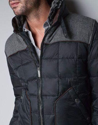 Combination Puffer Jacket Jackets Man Zara United