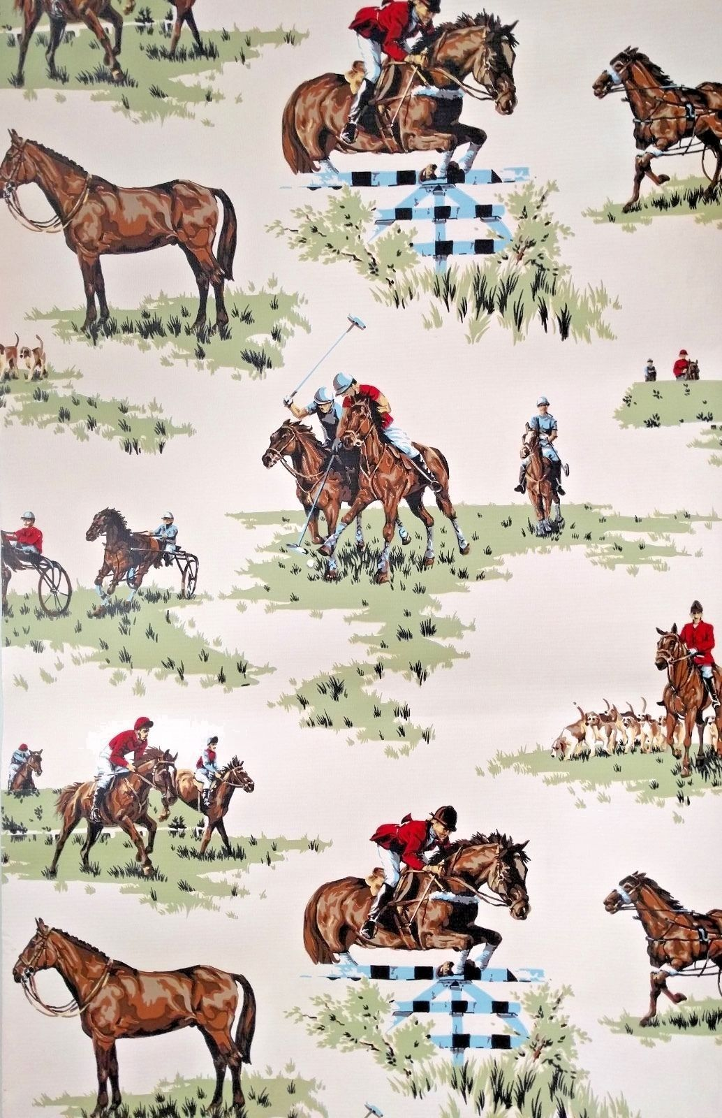 Peel And Stick Removable Wallpaper Equestrian Horse Fox Hunter Hound Saddle Pony Ebay Horse Wallpaper Vintage Wallpaper Equestrian Decor