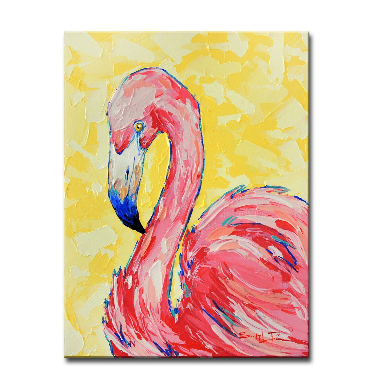 Flamingo Pink Canvas Wall Art Pier 1 Imports Canvas Art Canvas Wall Decor Flamingo Painting