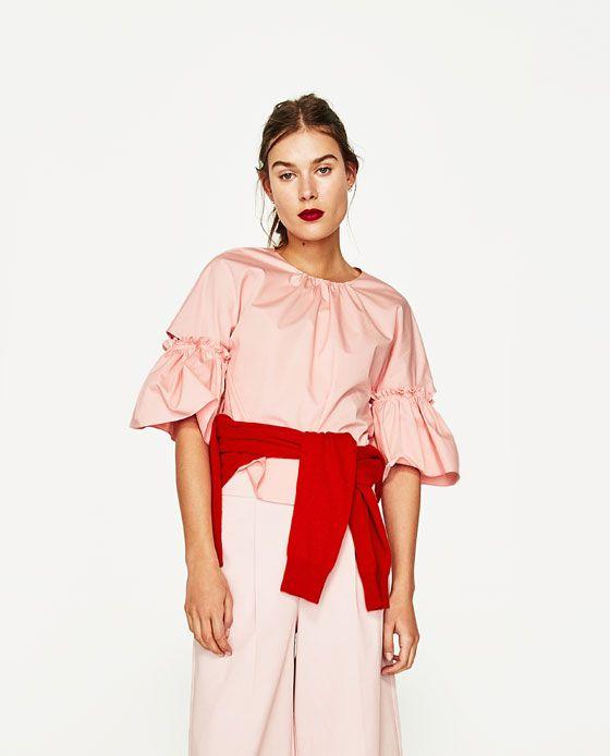 ZARA - MUJER - CUERPO MANGA ABERTURA #pinkaholic Pink trend. Pink, spring summer 2017. Rosa, primavera verano 2017. #tendencias2017 #primaveraverano2017 #rosa
