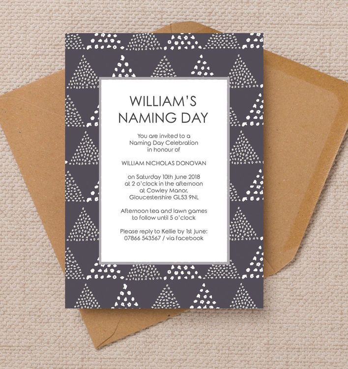 Geometric Naming Ceremony Day Invitation Printable PDF or - naming ceremony invitation