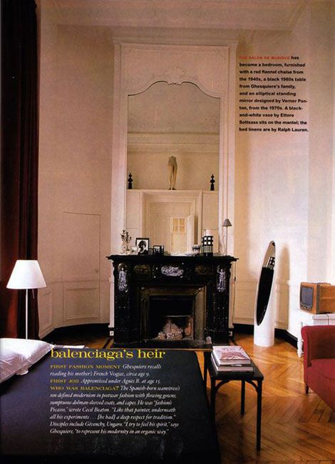 Parisian Apartments Interiors Balenciaga Nicolas Ghesquiere Paris Apartment Interior