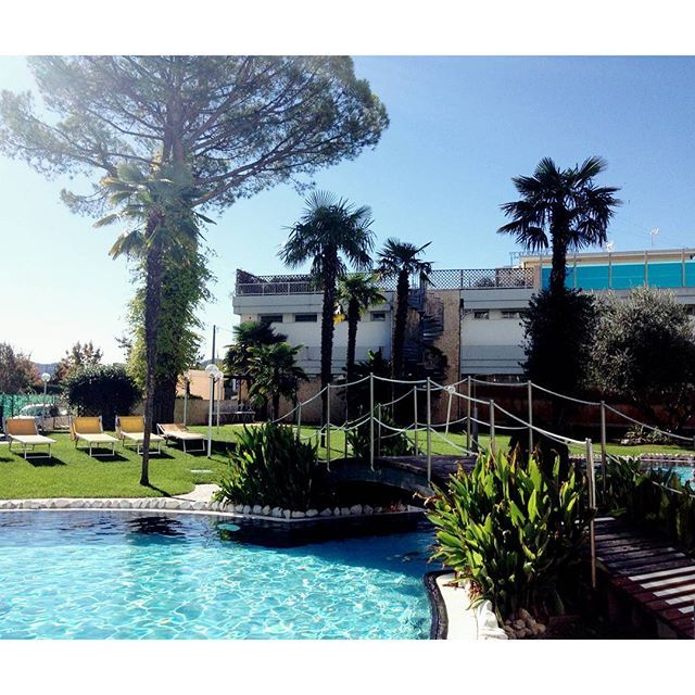 Panoramic Hotel Plaza @hotelplazaabano It's a sunny day Thermae Abano Montegrotto