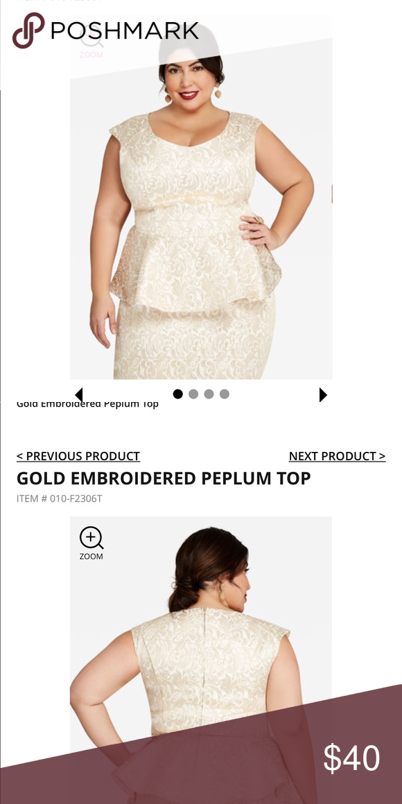 1bc93bcaf9 Colors are off white and gold. This skirt and top are gorgeous! Ashley  Stewart Dresses
