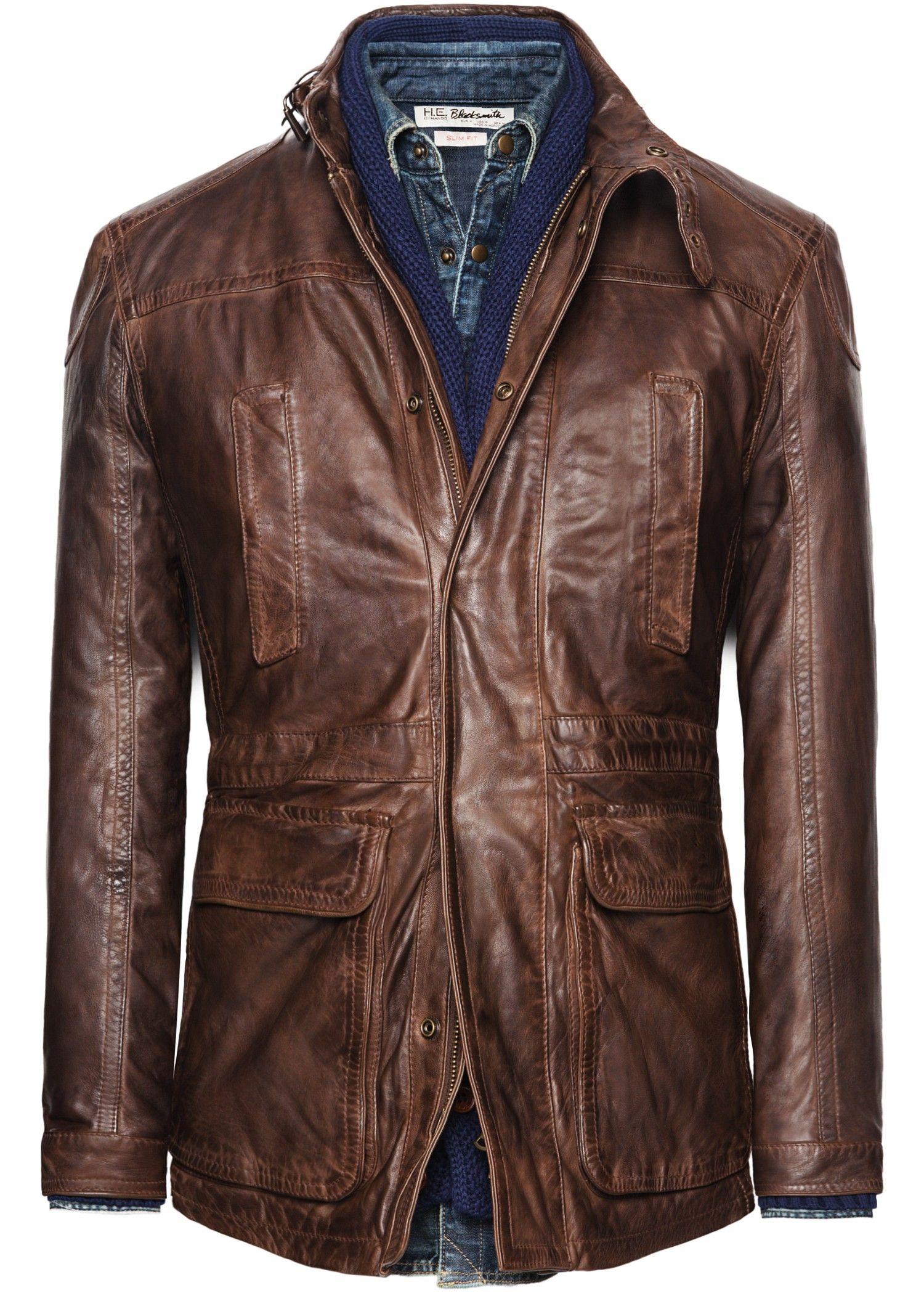 Leather field jacket Leather jacket, Leather jacket men