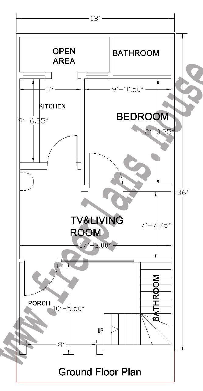 18x36 Feet Ground Floor Plan Plans Pinterest Photo
