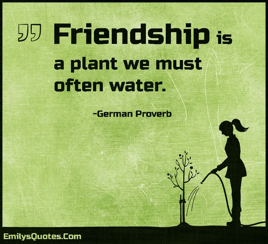 Amazing Quotes About Friendship Friendship Is A Plant We Must Often Water Inspirations