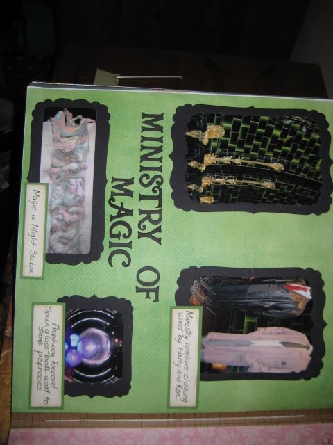 Ministry of Magic Harry Potter scrapbook